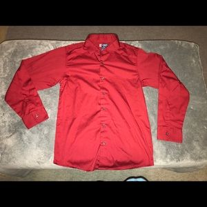 Chaps Long Sleeve Button Up shirt RED size Large